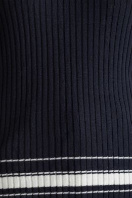Ribbed jumper with stripes, recycled, NAVY 3, detail