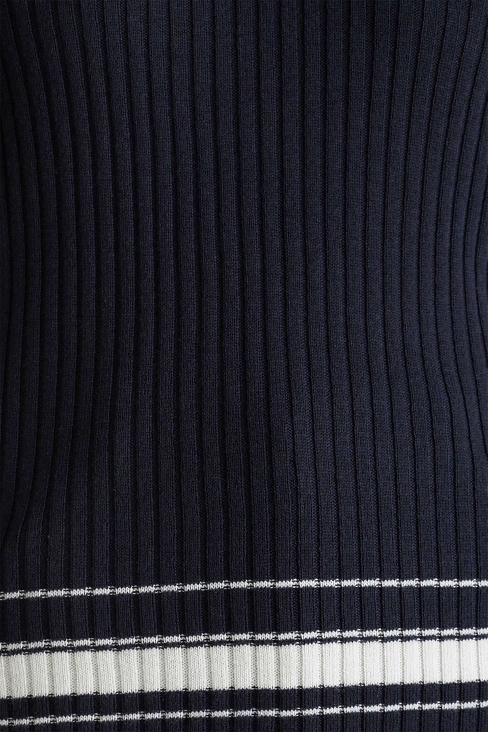 Ribbed jumper with stripes, recycled, NAVY 3, detail image number 4