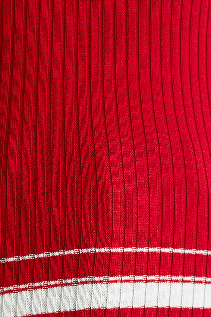 Ribbed jumper with stripes, recycled, DARK RED, detail image number 4