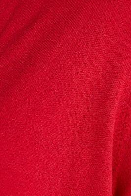 CURVY with linen: cardigan, DARK RED, detail