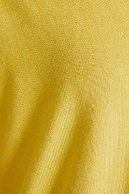 CURVY with linen: cardigan, YELLOW, detail