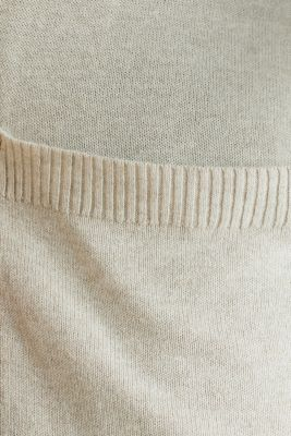 With linen: open-fronted cardigan with pockets, LIGHT BEIGE, detail