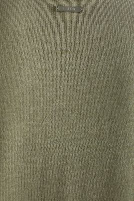 With linen: open-fronted cardigan with pockets, KHAKI GREEN 5, detail