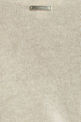 With linen: jumper with a pocket, LIGHT BEIGE, detail