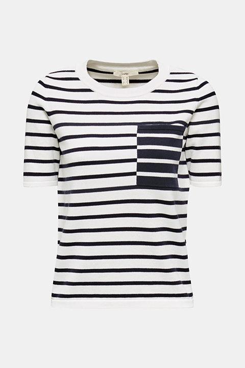 Short-sleeved jumper with a breast pocket
