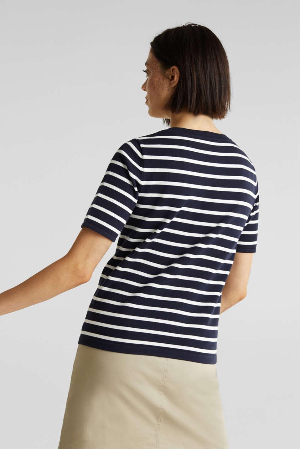 Short-sleeved jumper with a breast pocket, NAVY, detail image number 3
