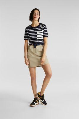 Short-sleeved jumper with a breast pocket, NAVY, detail
