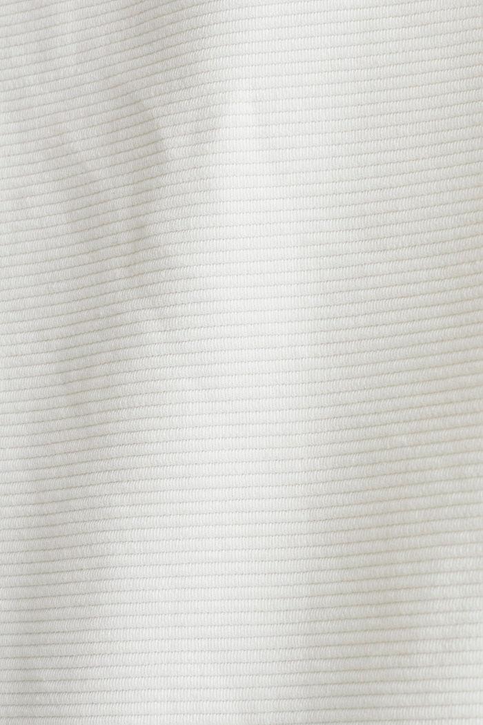 Sweat-shirt carré, à la texture côtelée, OFF WHITE, detail image number 4