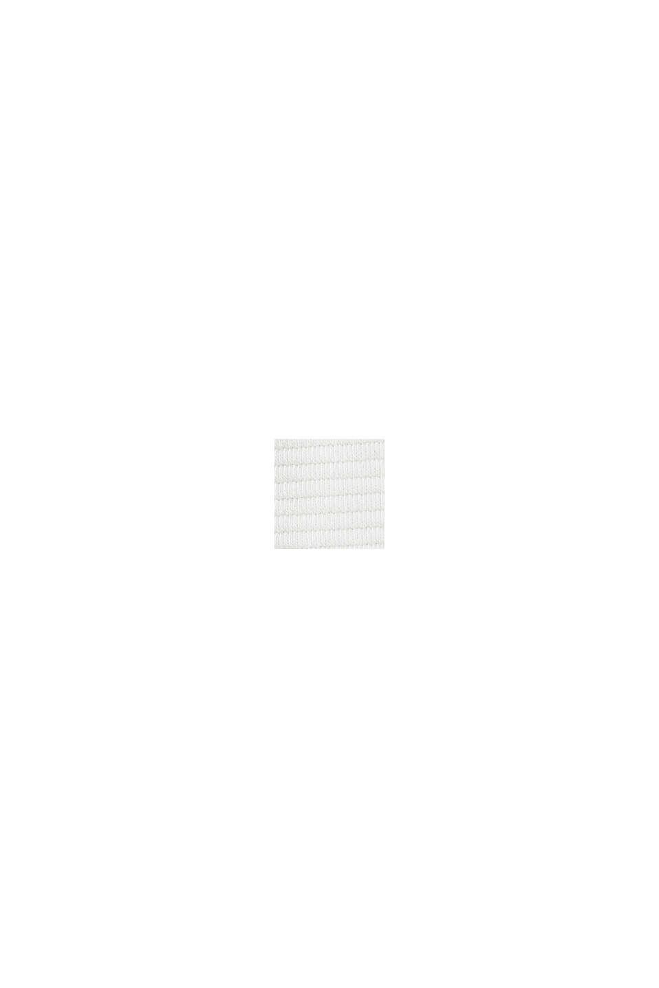 Boxy sweatshirt met geribde structuur, OFF WHITE, swatch