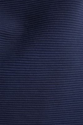 Boxy sweatshirt with a ribbed texture, NAVY, detail