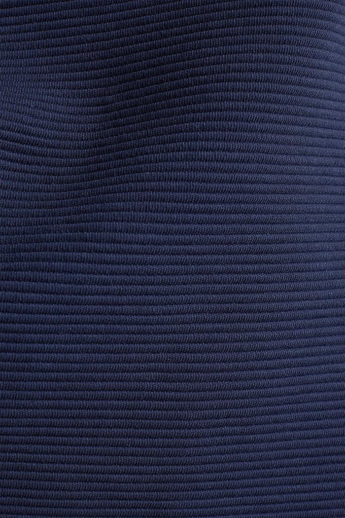 Kastiges Sweatshirt mit Ripp-Struktur, NAVY, detail image number 3