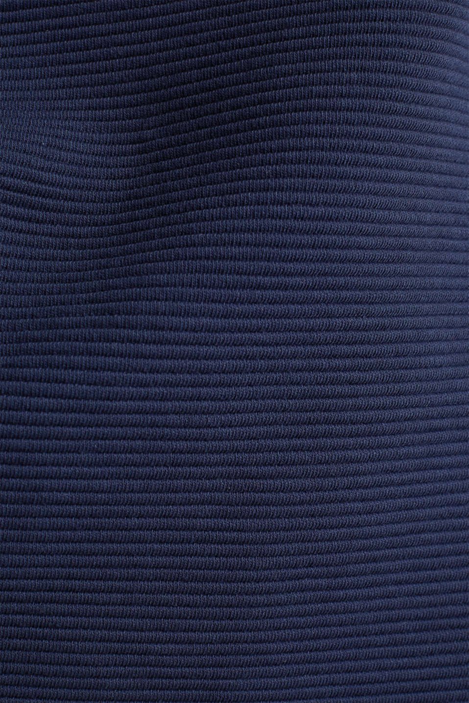 Boxy sweatshirt with a ribbed texture, NAVY, detail image number 3