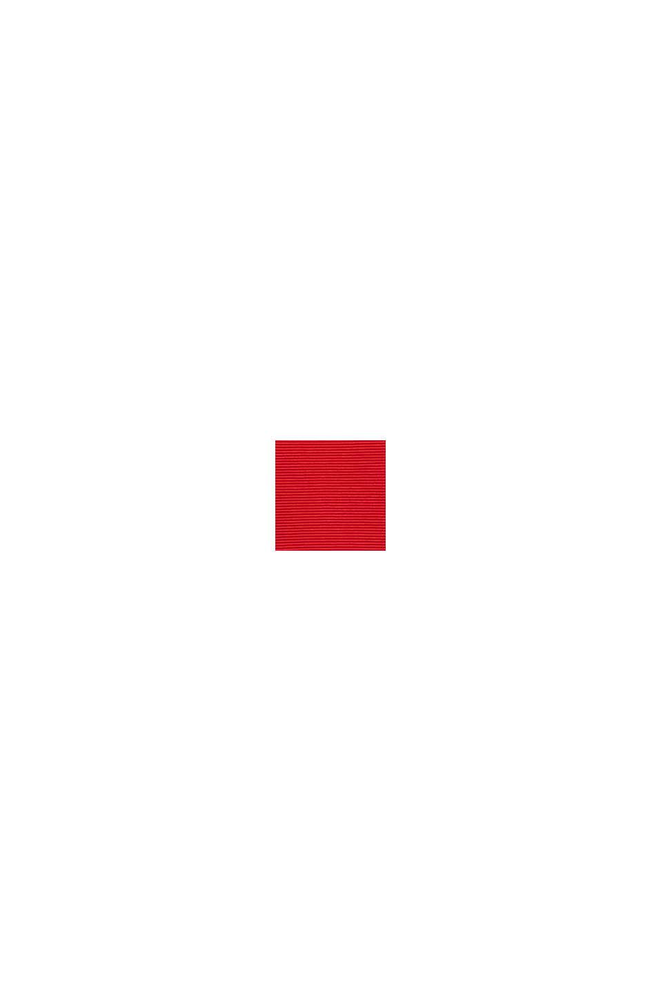 Boxy sweatshirt met geribde structuur, DARK RED, swatch