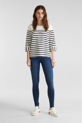 Striped cotton sweatshirt, OFF WHITE, detail