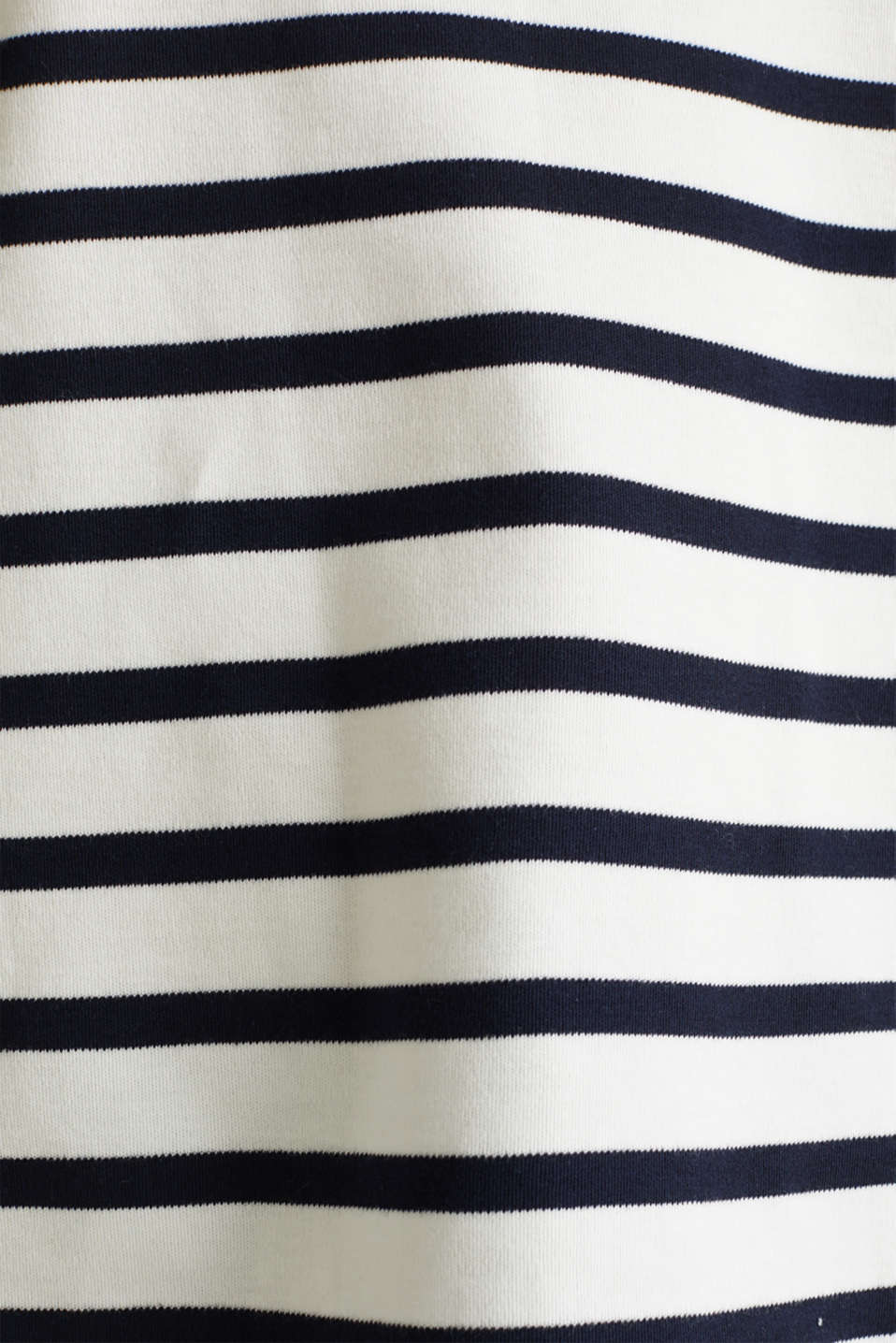 Striped cotton sweatshirt, OFF WHITE, detail image number 3
