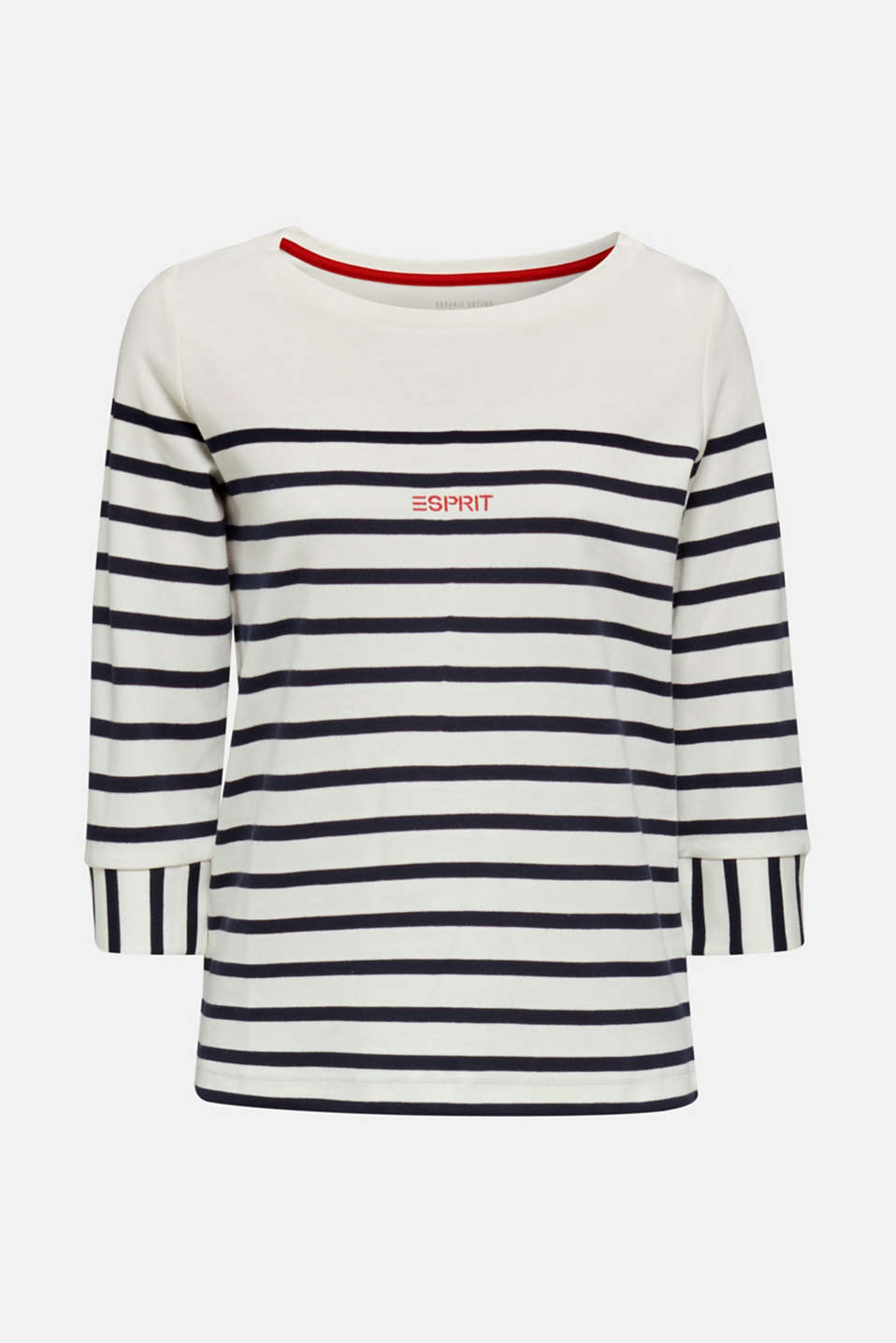 Striped cotton sweatshirt, OFF WHITE, detail image number 5