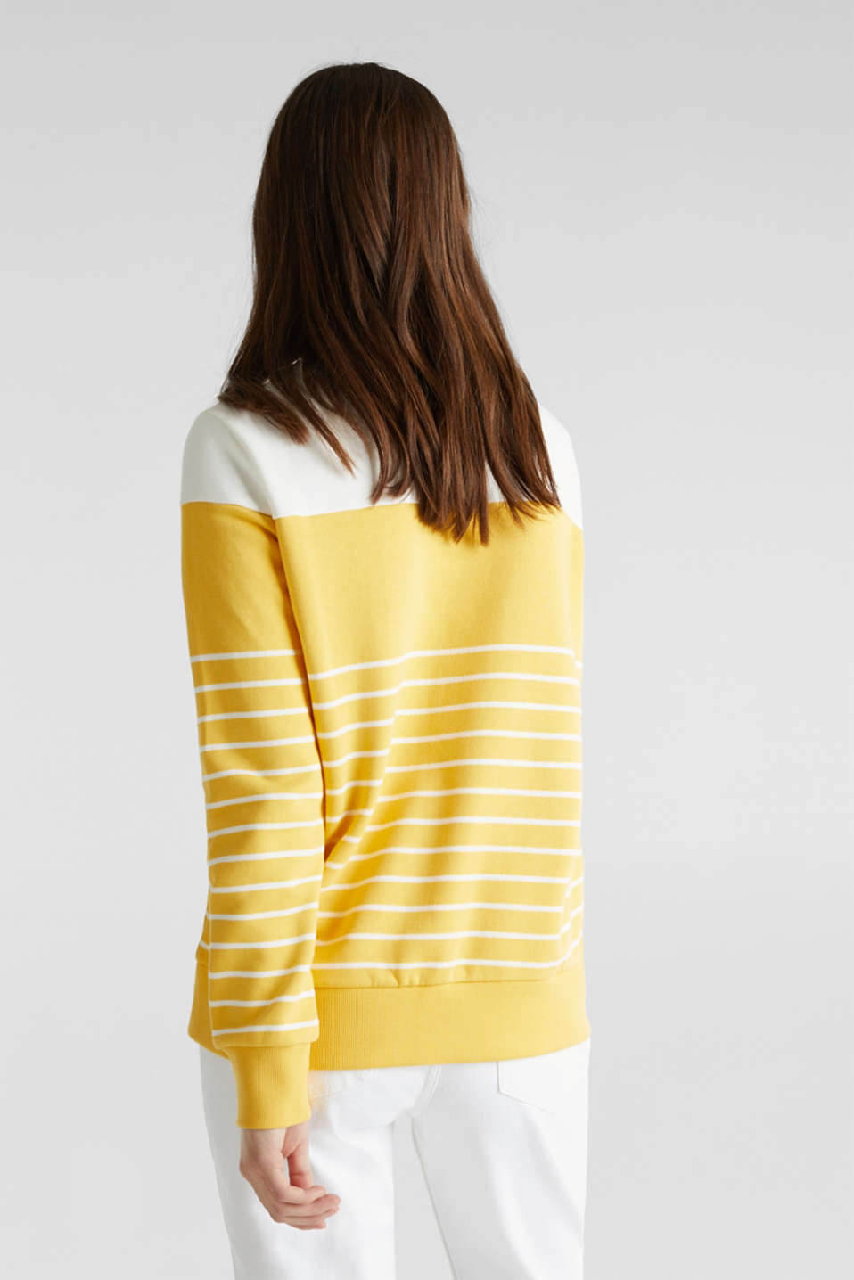 Sweatshirt with an embroidered logo, YELLOW, detail image number 3