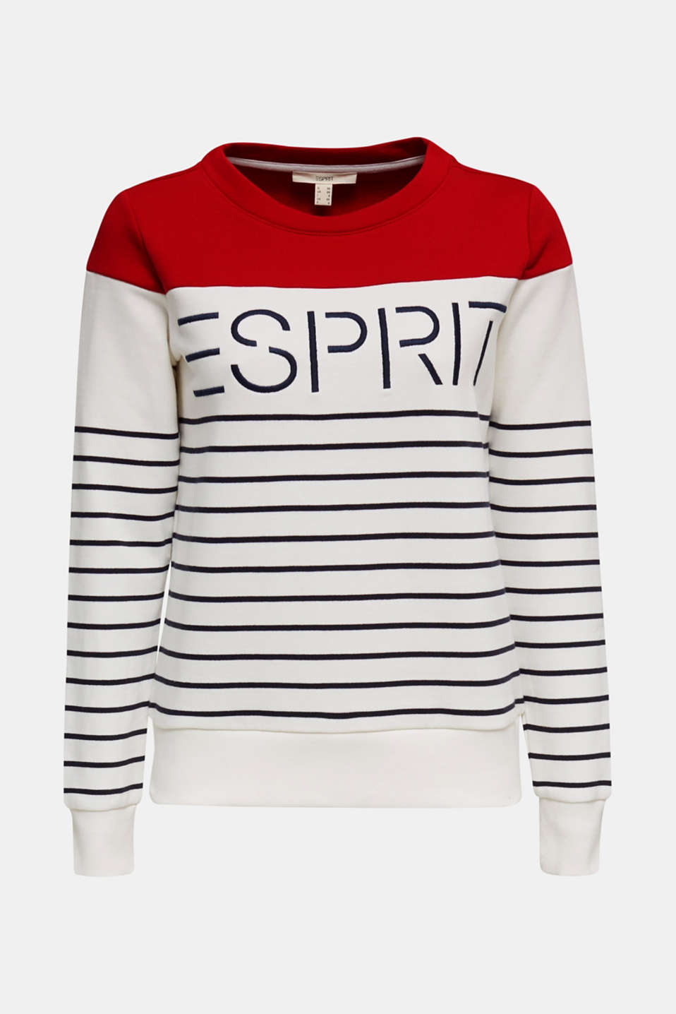 Sweatshirt with an embroidered logo, OFF WHITE, detail image number 6