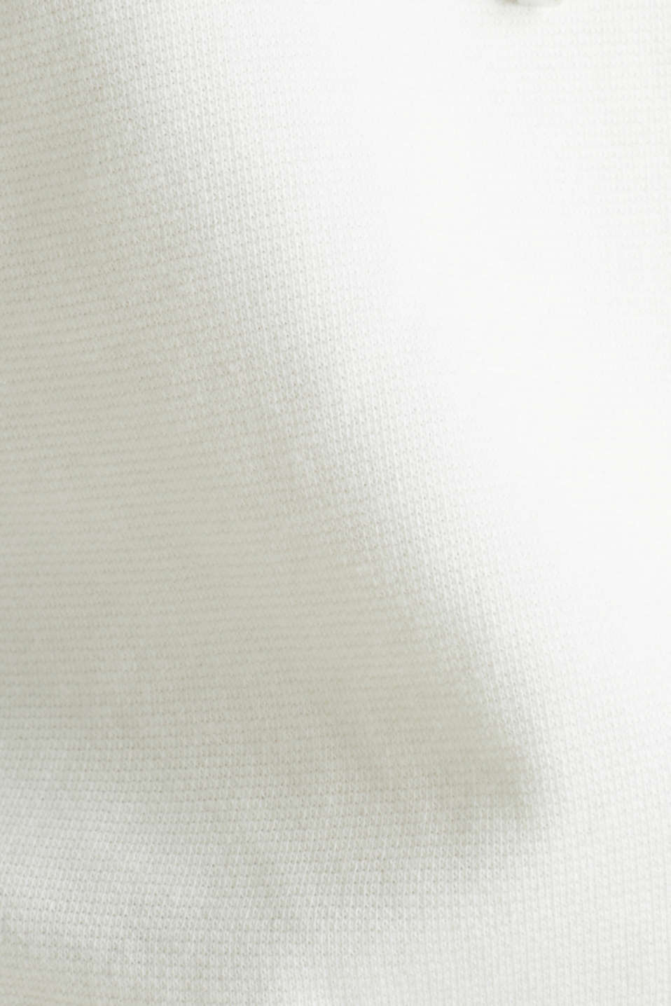 Boxy hoodie with striped cuffs, OFF WHITE, detail image number 4