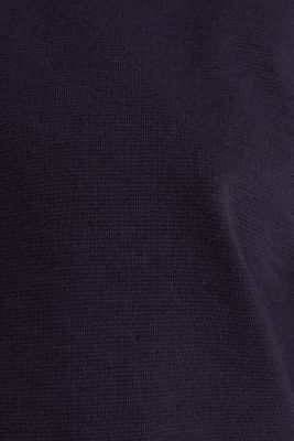 Boxy hoodie with striped cuffs, NAVY, detail