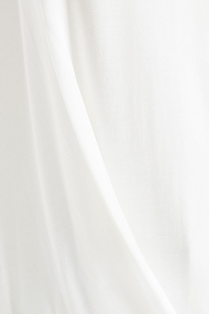 CURVY long sleeve top with a wrap effect, OFF WHITE, detail image number 4