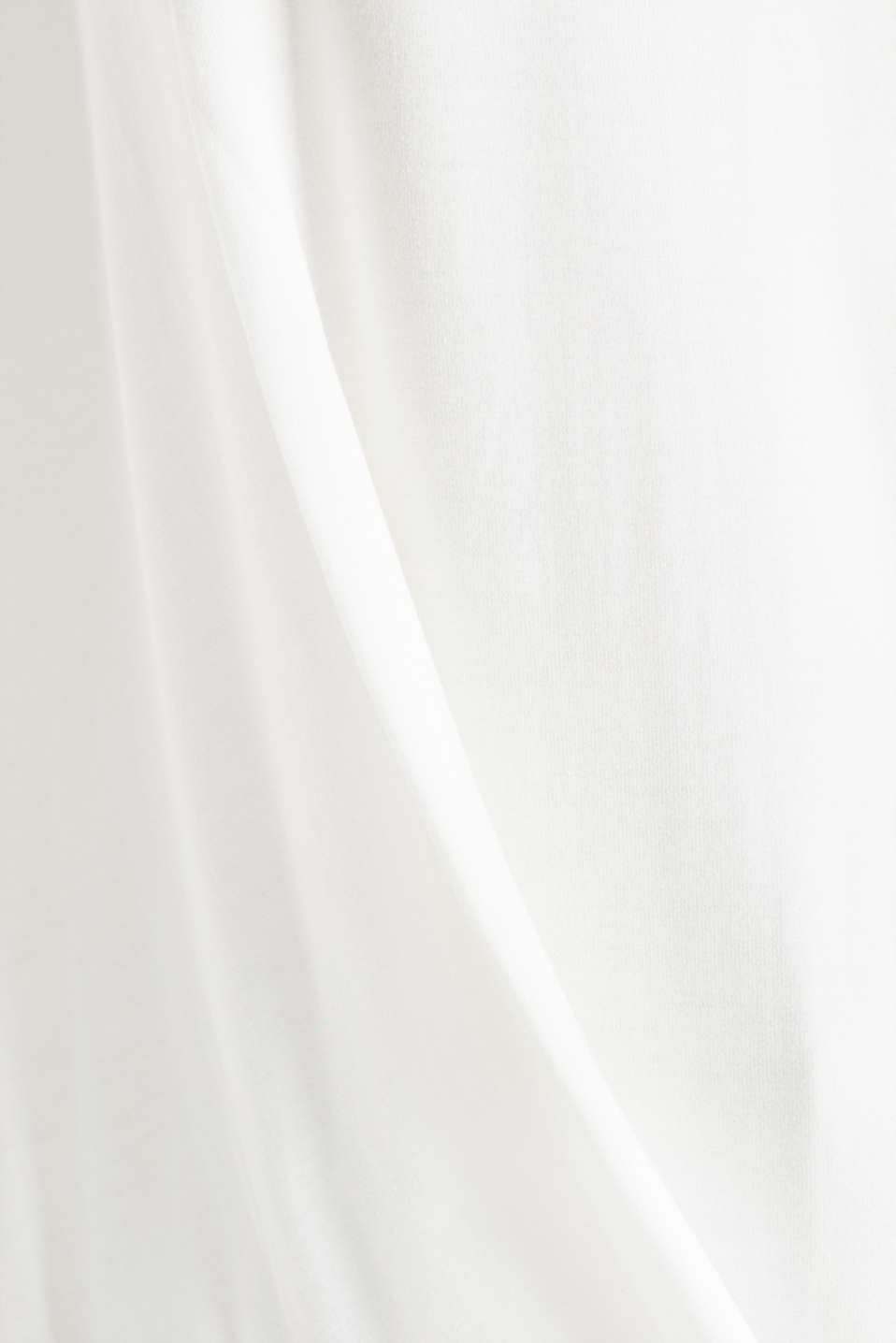CURVY long sleeve top with a button placket and a wrap-around effect, OFF WHITE, detail image number 4