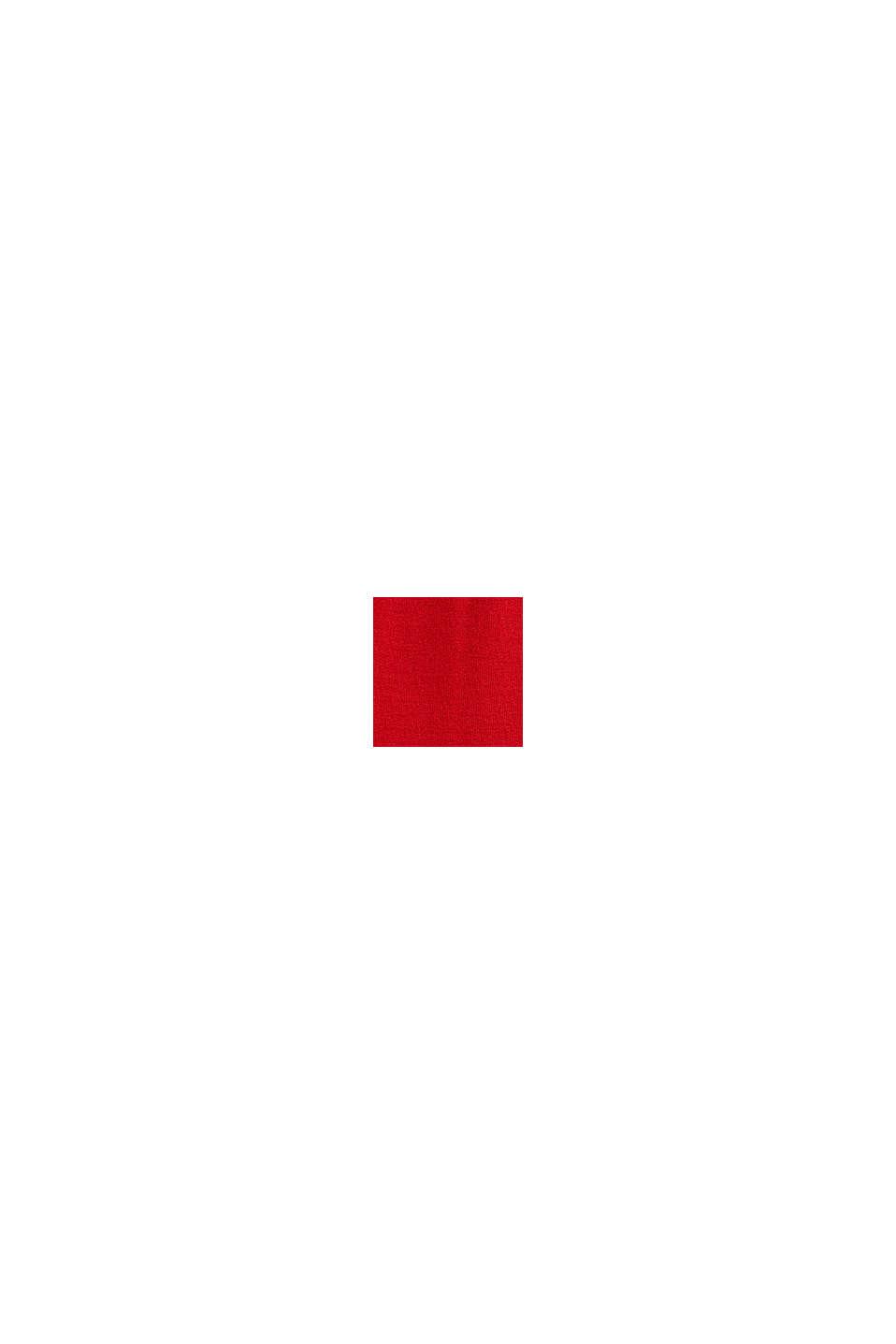 Haut à manches longues et effet cache-cœur CURVY, DARK RED, swatch