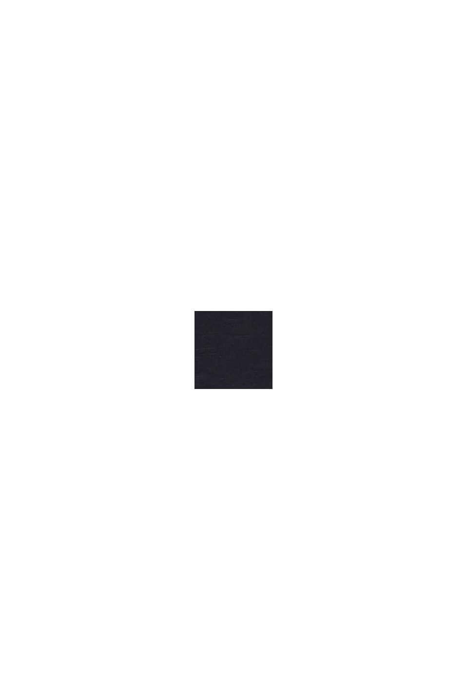 Slub-Shirt mit 3/4-Ärmeln, 100% Baumwolle, BLACK, swatch