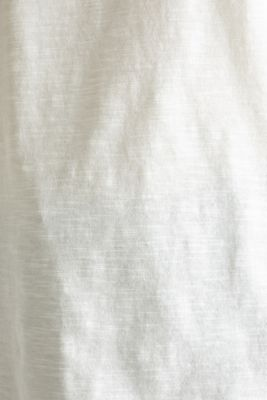 Slub top with 3/4-length sleeves, 100% cotton, OFF WHITE, detail