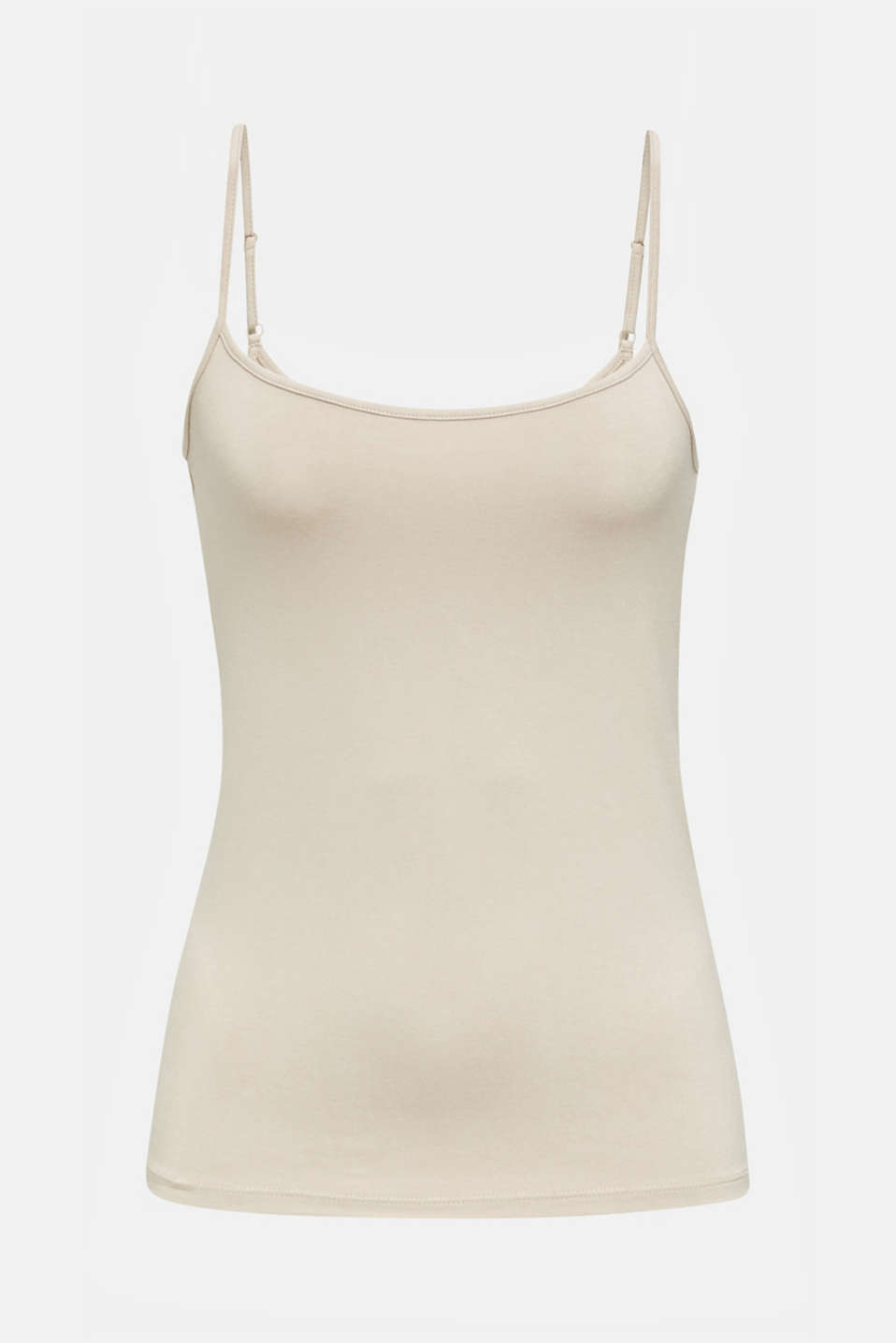 Stretch jersey top with spaghetti straps, BEIGE 4, detail image number 5