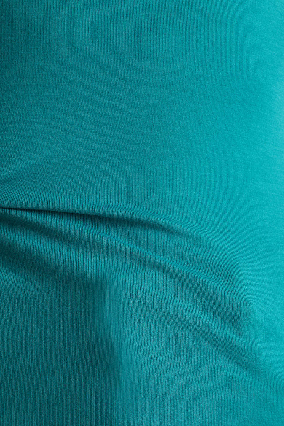 Stretch jersey top with spaghetti straps, TEAL GREEN 4, detail image number 3