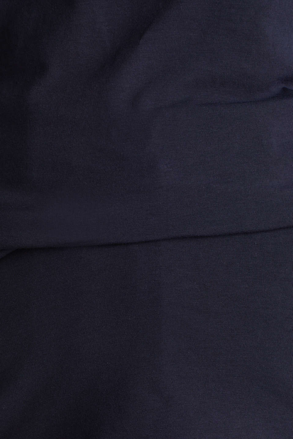 Stretch T-shirt with a scalloped trim, NAVY, detail image number 4
