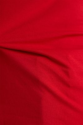 Stretch T-shirt with a scalloped trim, DARK RED 3, detail