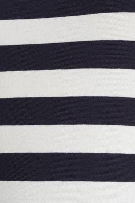 Striped, stretch cotton T-shirt, NAVY, detail