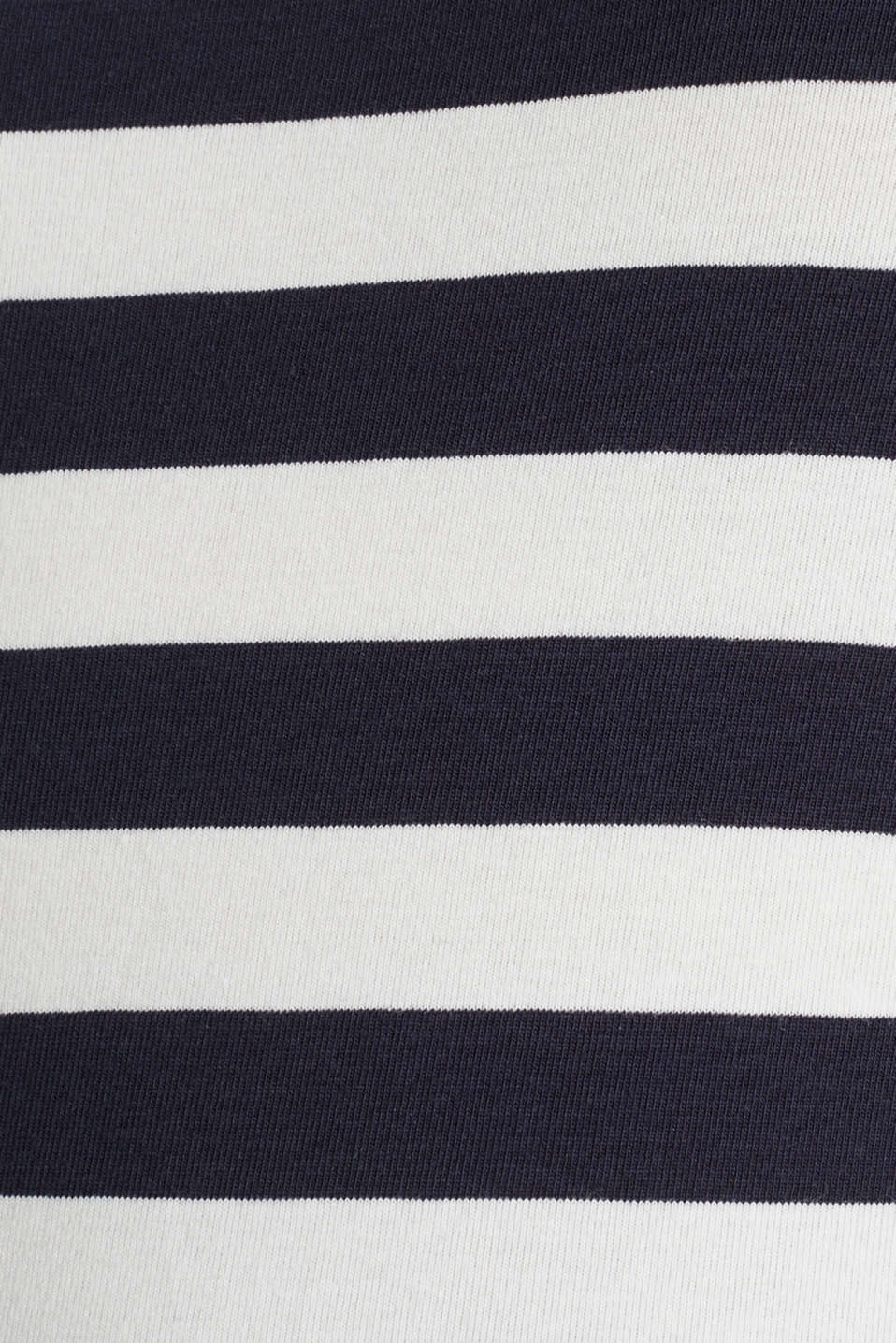 Striped, stretch cotton T-shirt, NAVY, detail image number 4