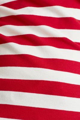 Striped, stretch cotton T-shirt, DARK RED 3, detail