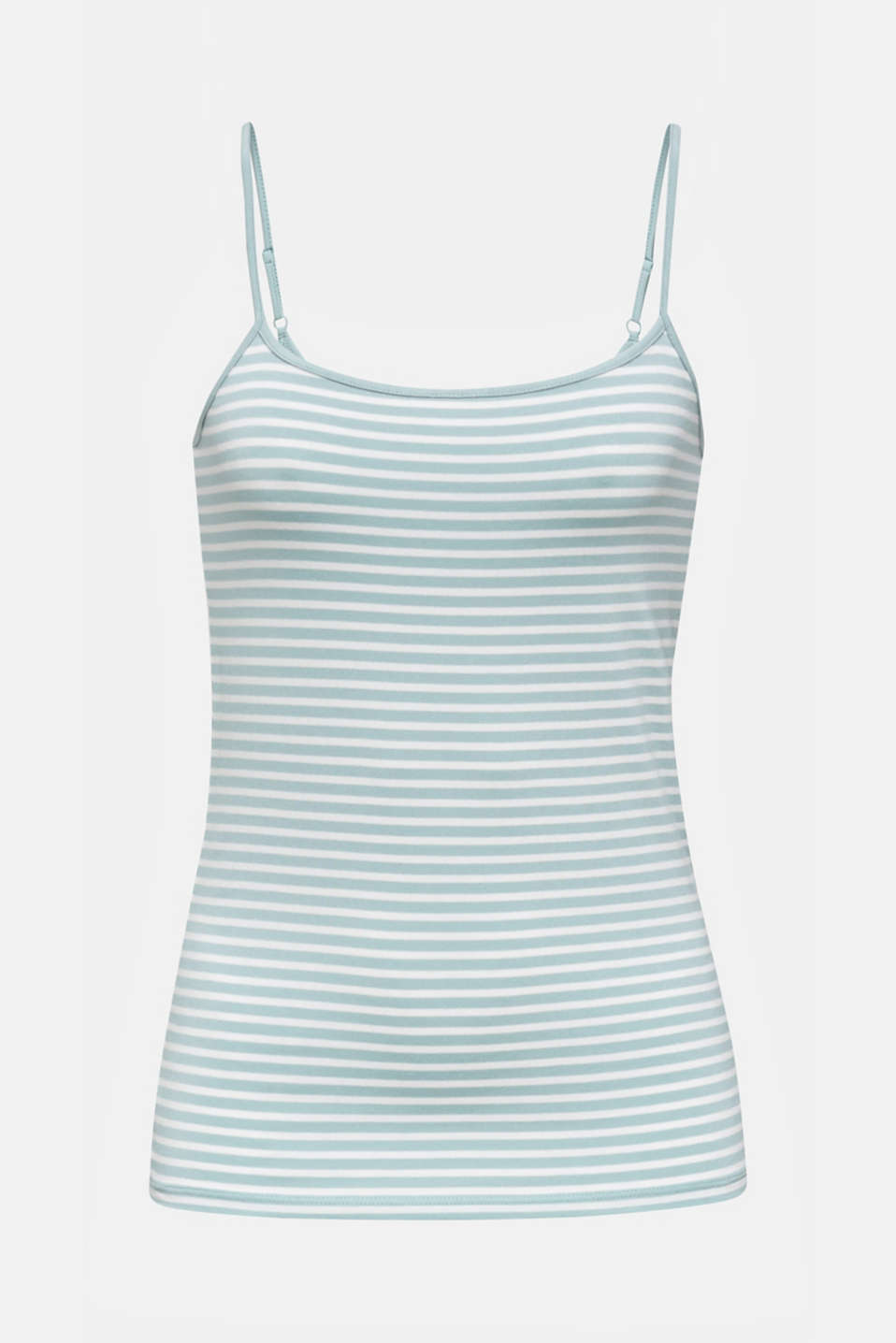 Stretch jersey top with spaghetti straps, LIGHT AQUA GREEN 4, detail image number 7