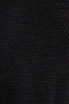 Slub top with a casual cut, BLACK, detail