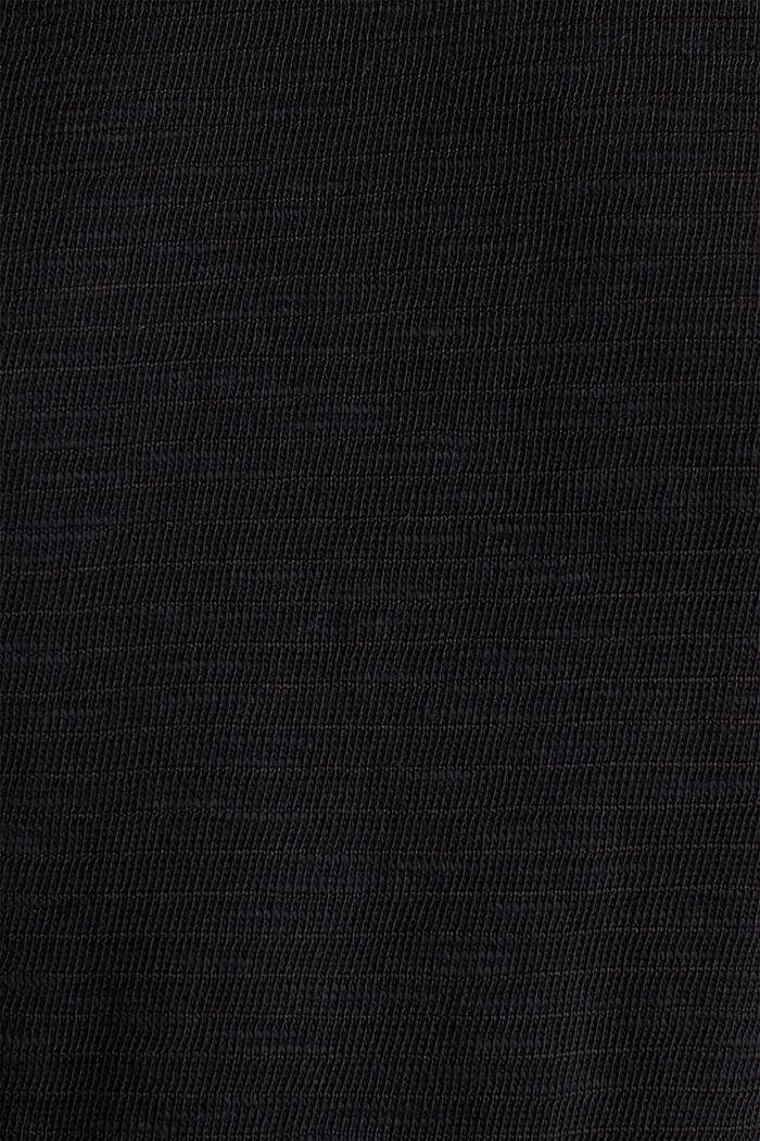 Węzełkowa bluzka o swobodnym kroju, BLACK, detail image number 4