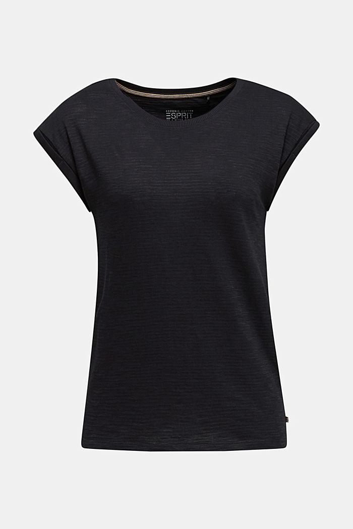 Węzełkowa bluzka o swobodnym kroju, BLACK, detail image number 7