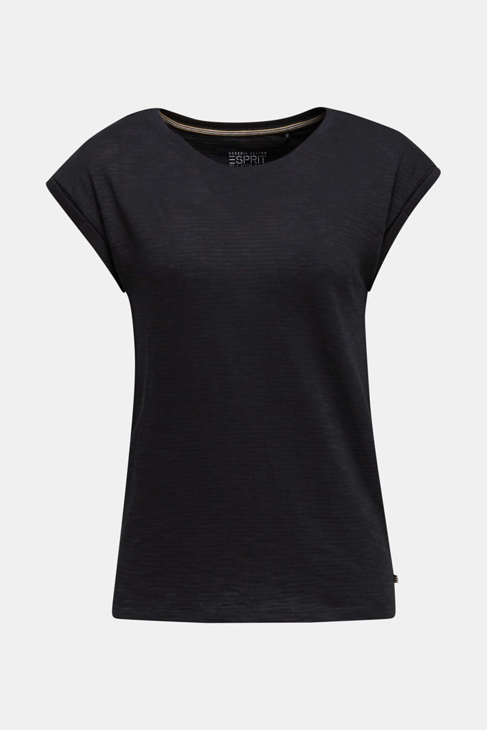 Slub top with a casual cut, BLACK, detail image number 7