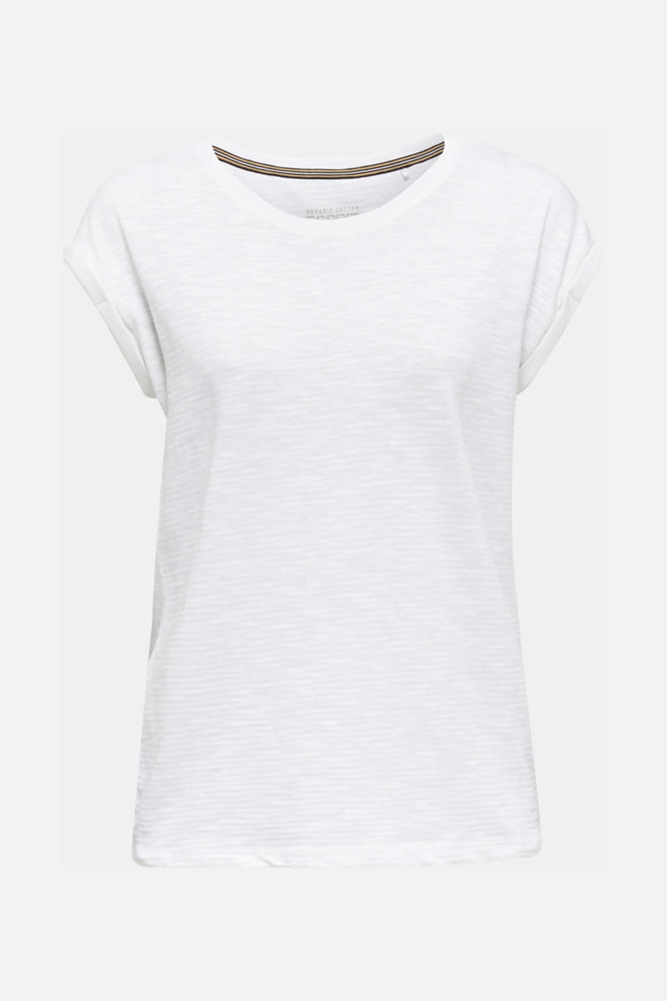 Slub top with a casual cut, WHITE, detail image number 6
