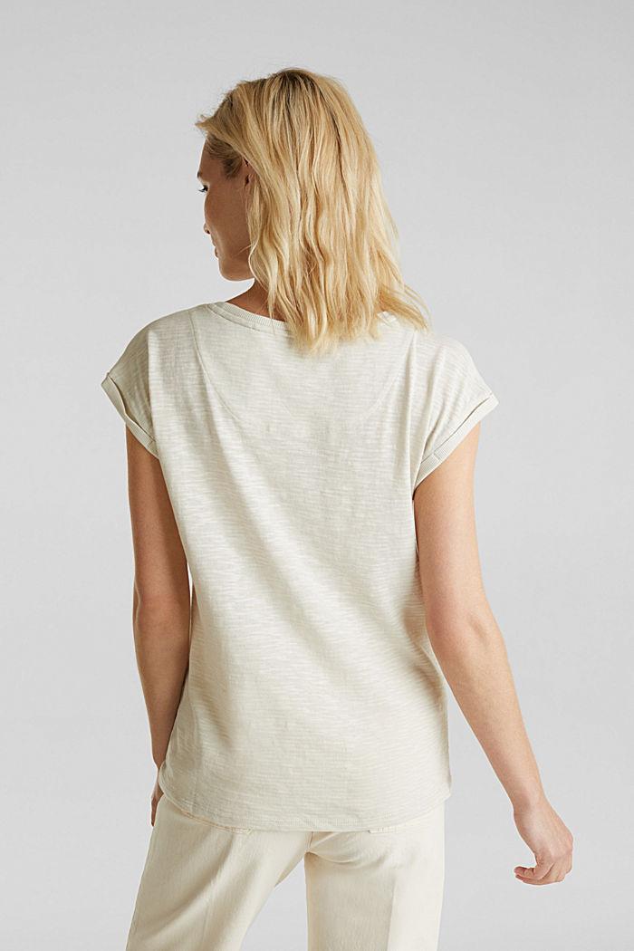 Slub-Shirt mit lässigem Schnitt, SAND, detail image number 3