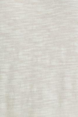 Slub top with a casual cut, SAND 4, detail
