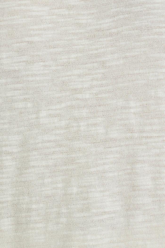 Slub-Shirt mit lässigem Schnitt, SAND, detail image number 4