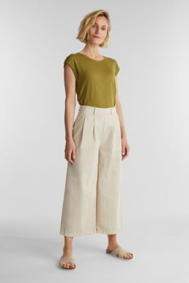 Slub top with a casual cut, OLIVE 4, detail