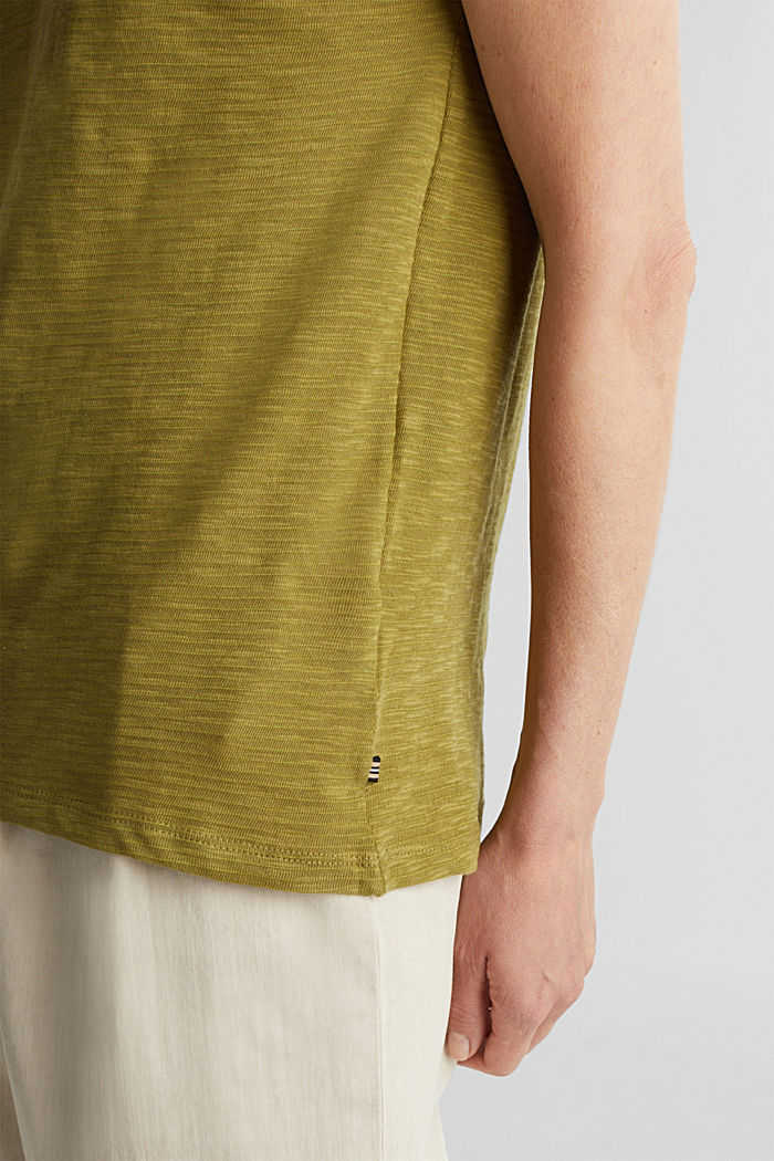 Slub top with a casual cut, OLIVE, detail image number 2