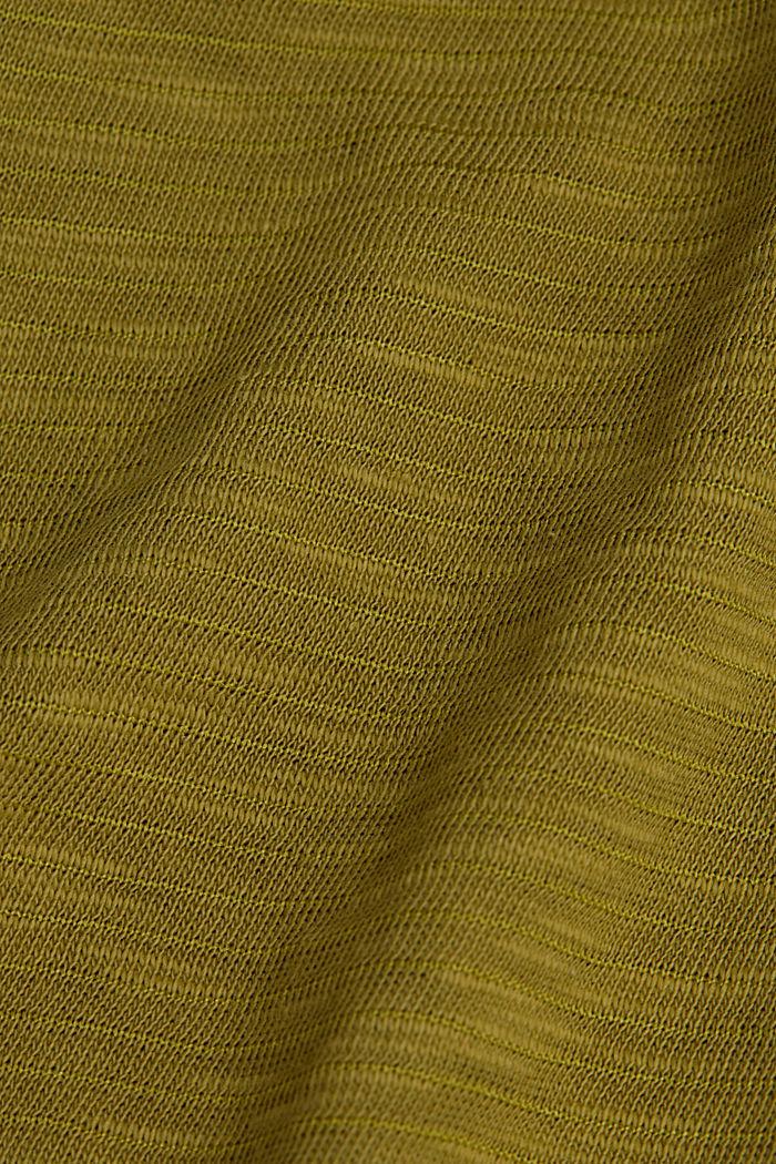 Slub-Shirt mit lässigem Schnitt, OLIVE, detail image number 4