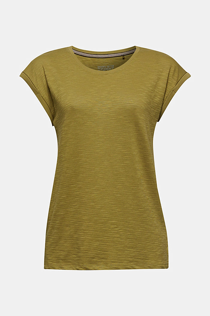 Slub top with a casual cut, OLIVE, detail image number 5