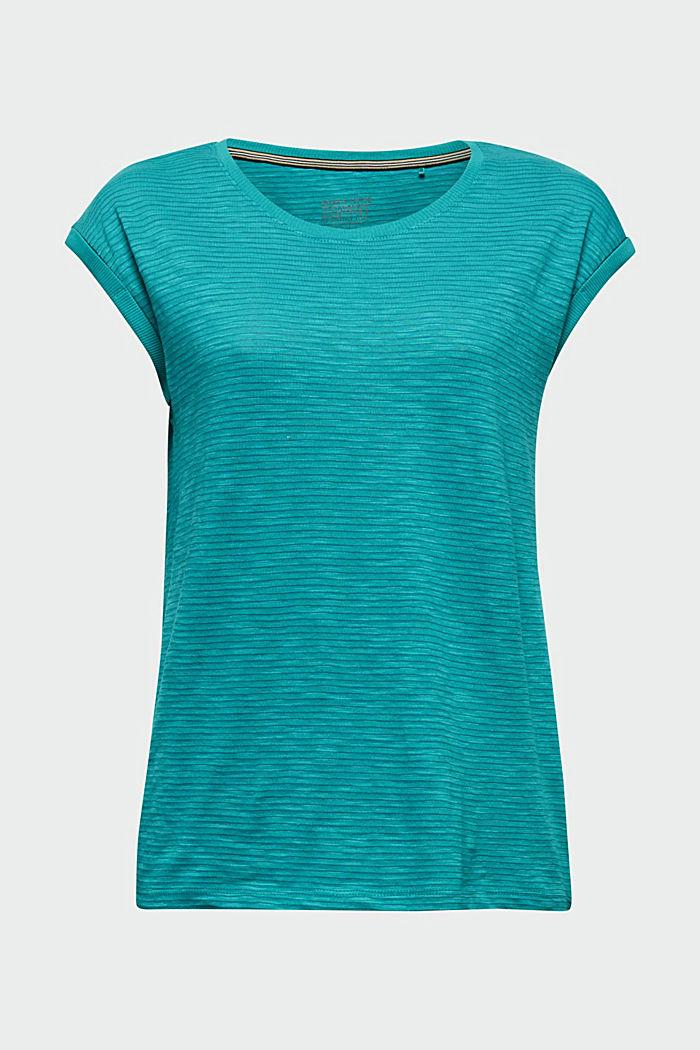 Slub jersey shirt met casual model, TEAL GREEN, detail image number 5